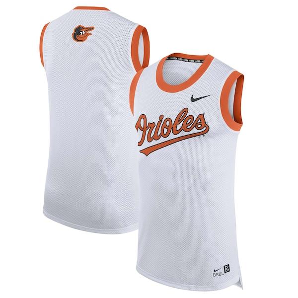 Men's Baltimore Orioles Nike White Bro Tank Top replica Trey Mancini jersey